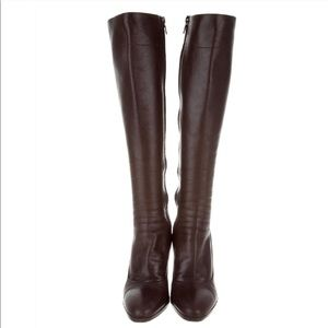 Authentic leather Prada knee-high boots
